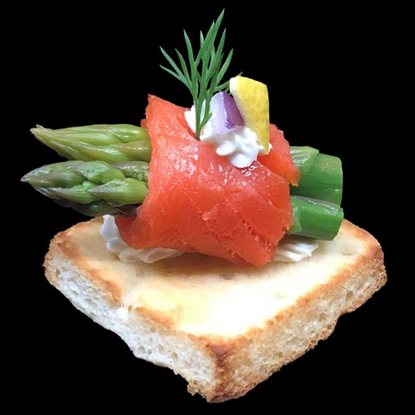 Smoked-Salmon-wrapped-Asparagus