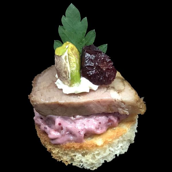 Smoked-Duck-with-Cranberry-Mousse