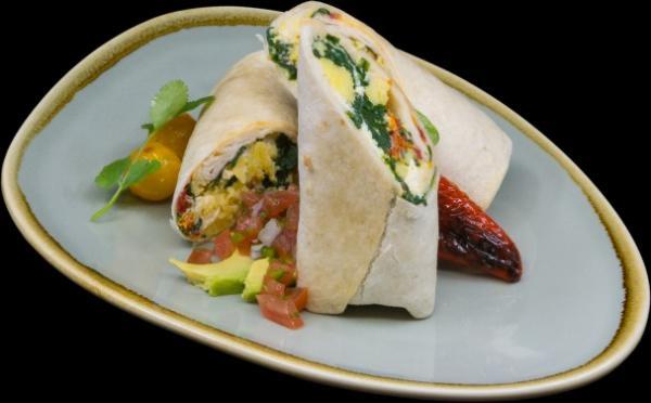 burrito mediterranean - spinach, artichoke, feta, peppers1