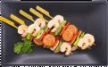 shrimpandouillesausagebrochette