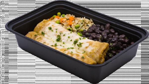 chicken-enchiladas-rice-pilaf-black-beans